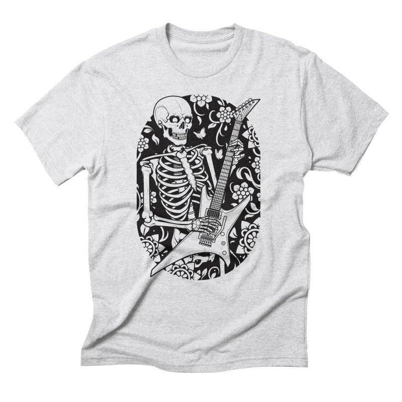 Skeleton Rocker Men's Triblend T-shirt by Sam Phillips Illustration