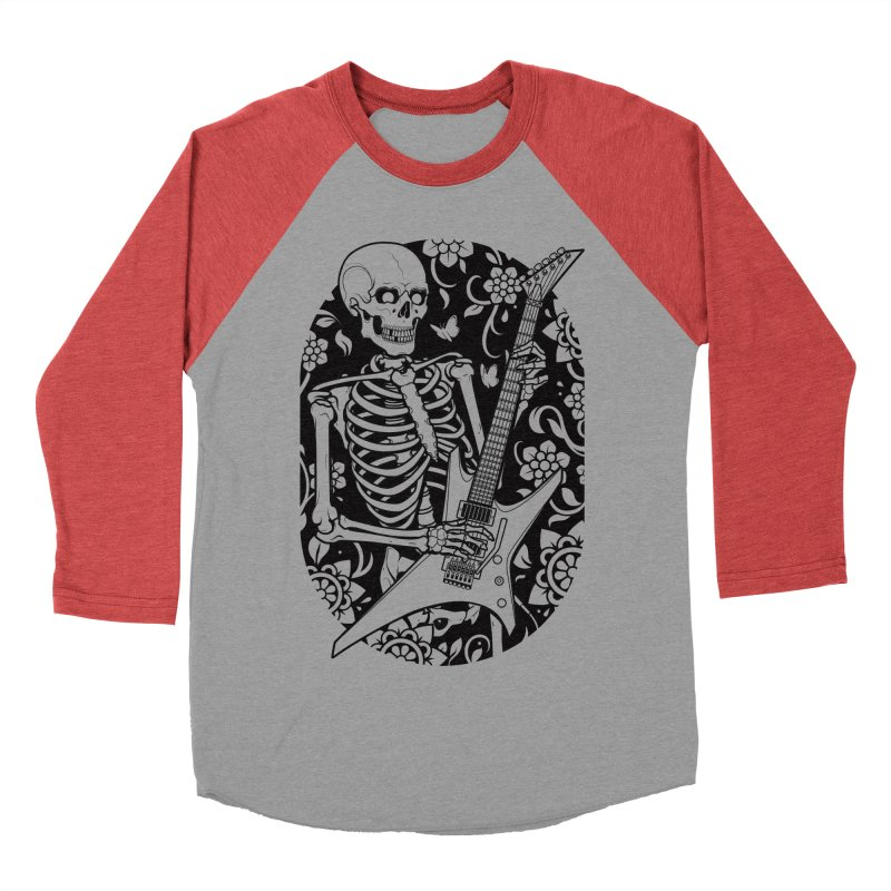 Skeleton Rocker Women's Baseball Triblend T-Shirt by Sam Phillips Illustration