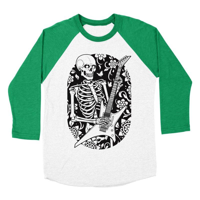 Skeleton Rocker Men's Baseball Triblend T-Shirt by Sam Phillips Illustration