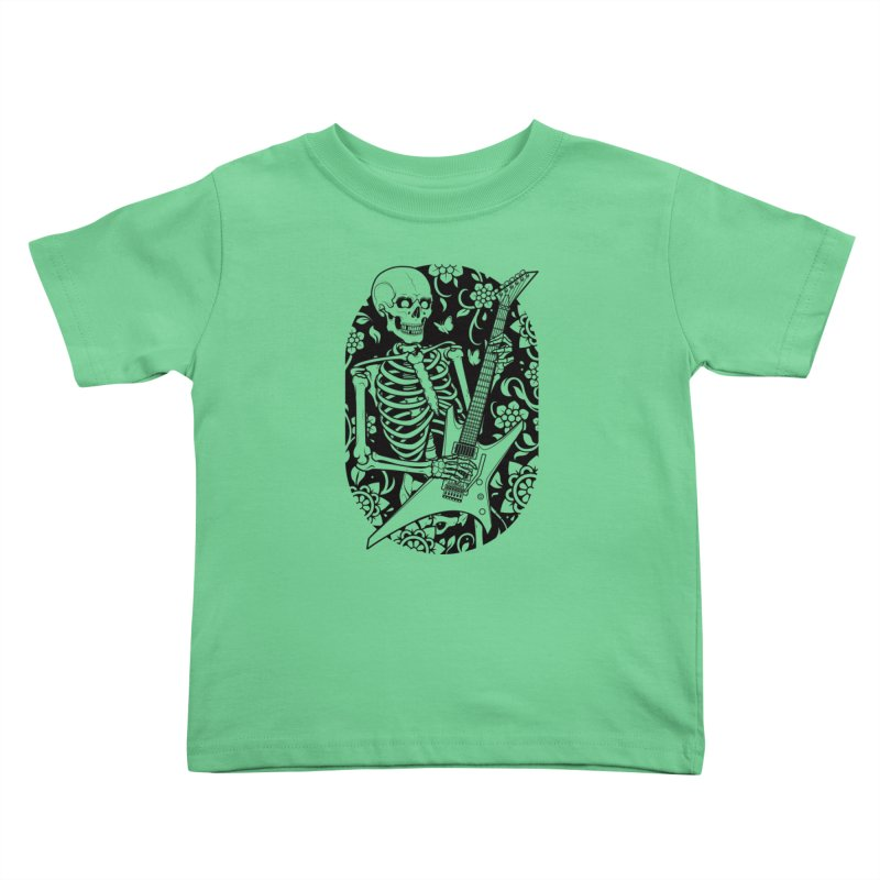 Skeleton Rocker Kids Toddler T-Shirt by Sam Phillips Illustration