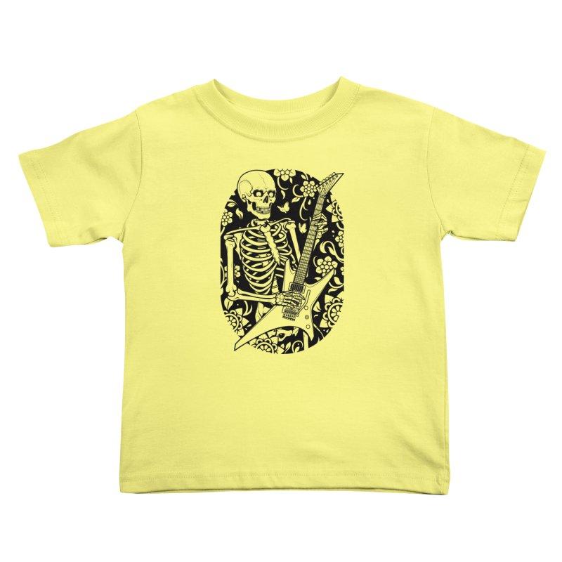 Skeleton Rocker Kids Toddler T-Shirt by Sam Phillips Illustration