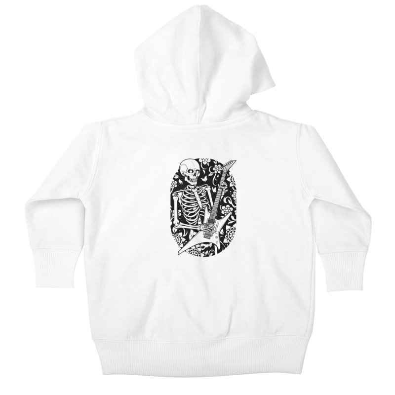 Skeleton Rocker Kids Baby Zip-Up Hoody by Sam Phillips Illustration