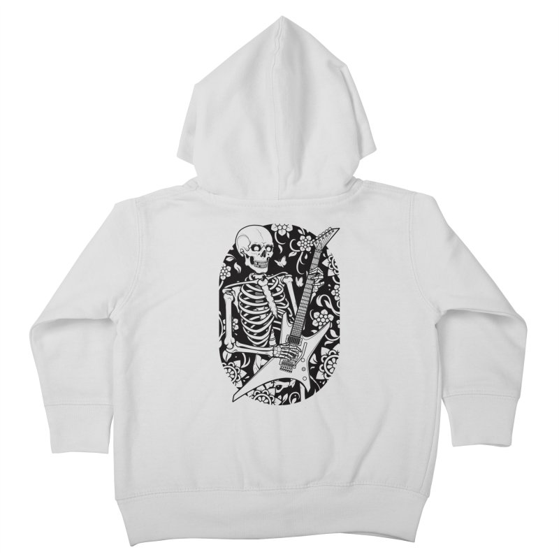 Skeleton Rocker Kids Toddler Zip-Up Hoody by Sam Phillips Illustration