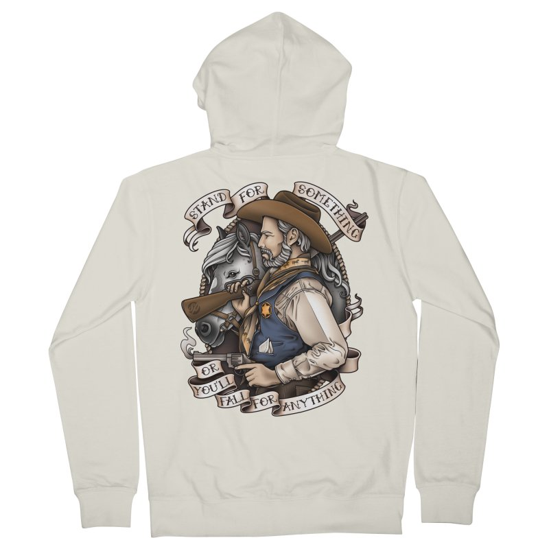 Stand For Something Men's Zip-Up Hoody by Sam Phillips Illustration