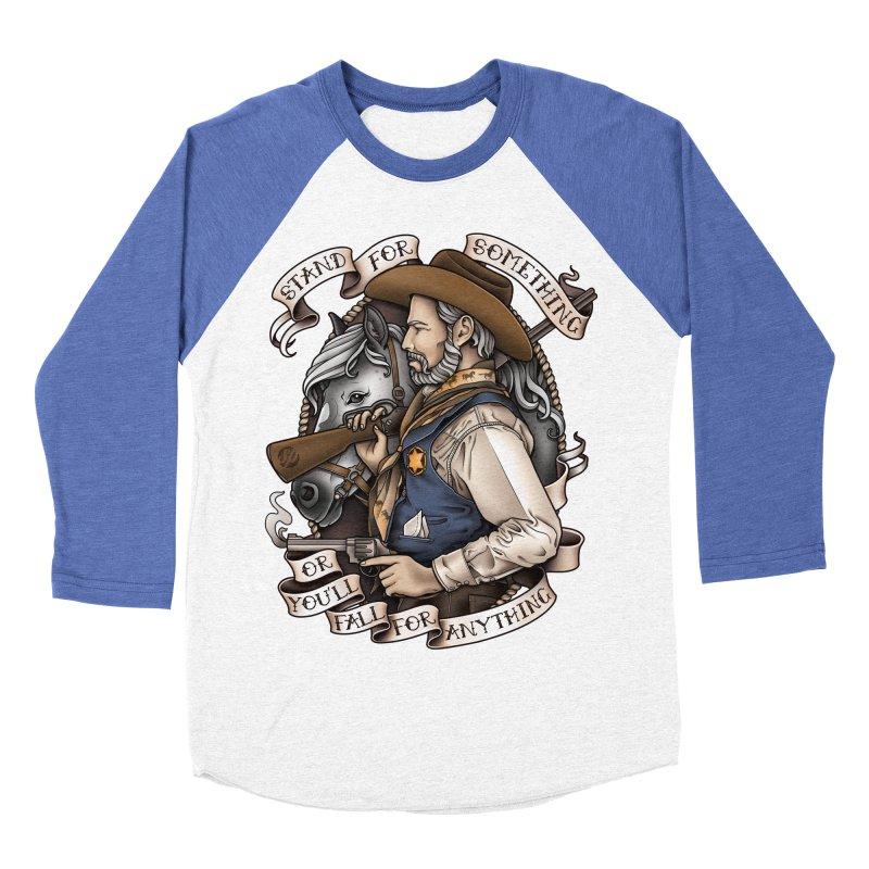 Stand For Something Men's Baseball Triblend T-Shirt by Sam Phillips Illustration