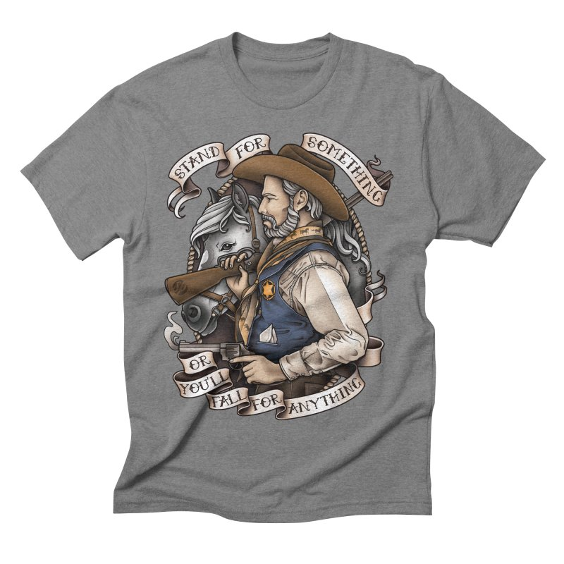 Stand For Something Men's Triblend T-shirt by Sam Phillips Illustration