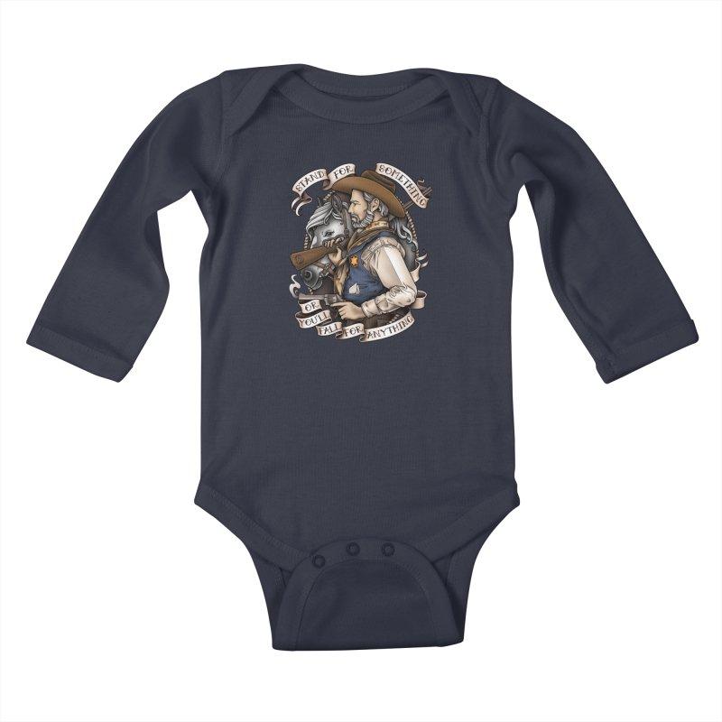 Stand For Something Kids Baby Longsleeve Bodysuit by Sam Phillips Illustration