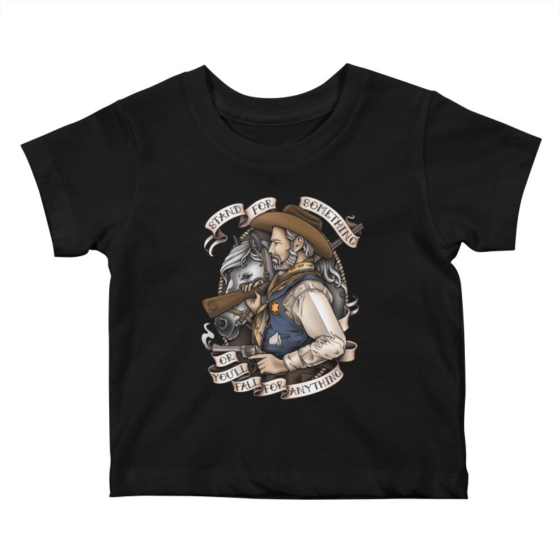 Stand For Something Kids Baby T-Shirt by Sam Phillips Illustration
