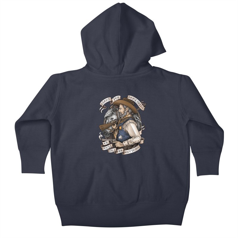 Stand For Something Kids Baby Zip-Up Hoody by Sam Phillips Illustration