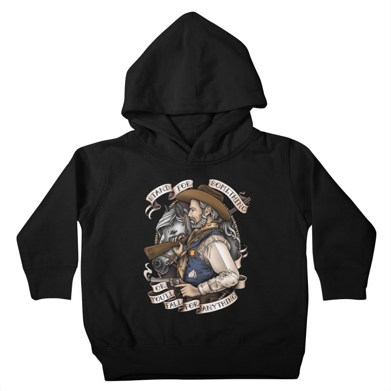 Stand For Something Kids Toddler Pullover Hoody by Sam Phillips Illustration