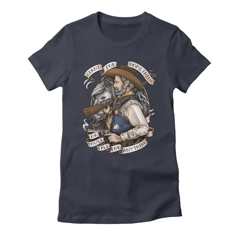 Stand For Something Women's Fitted T-Shirt by Sam Phillips Illustration