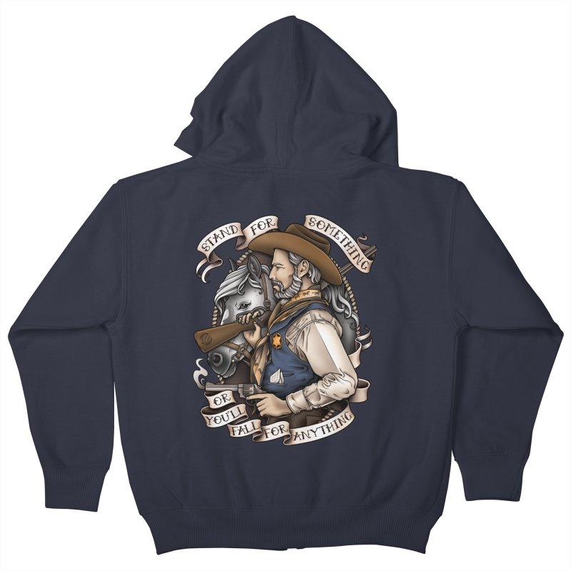 Stand For Something Kids Zip-Up Hoody by Sam Phillips Illustration