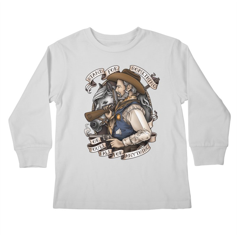 Stand For Something Kids Longsleeve T-Shirt by Sam Phillips Illustration