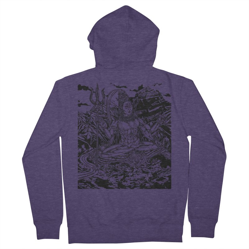 SHIVA THE CREATOR & DESTROYER Men's Zip-Up Hoody by  SAMSKARA
