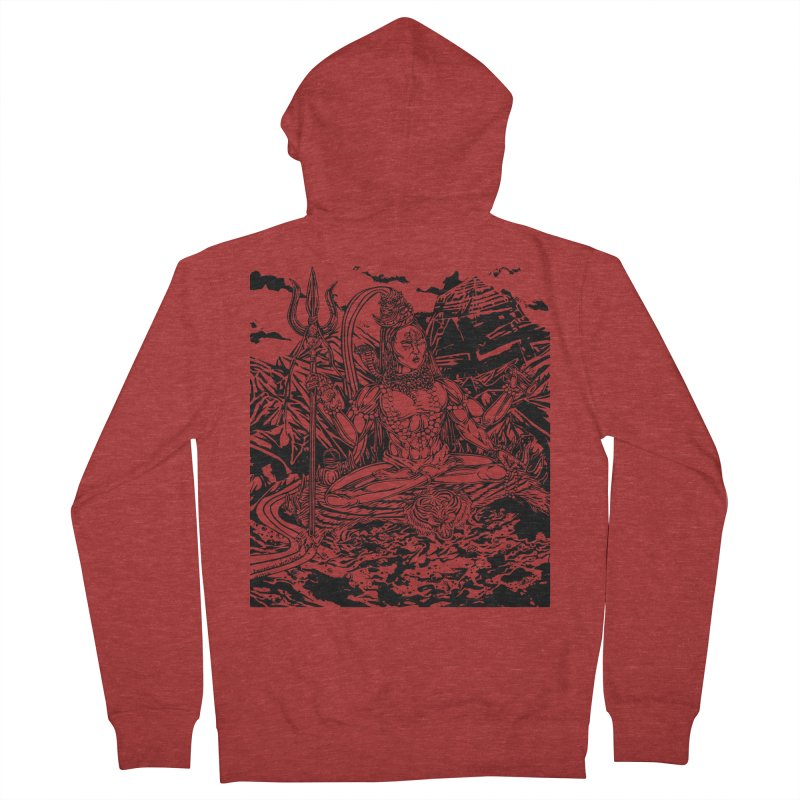 SHIVA THE CREATOR & DESTROYER Men's French Terry Zip-Up Hoody by  SAMSKARA