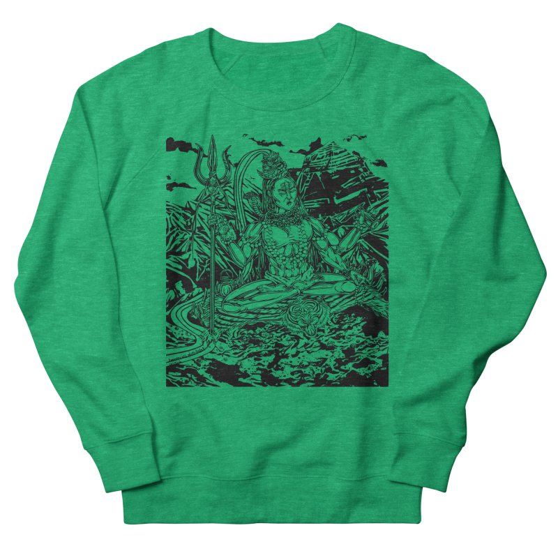 SHIVA THE CREATOR & DESTROYER Men's French Terry Sweatshirt by  SAMSKARA