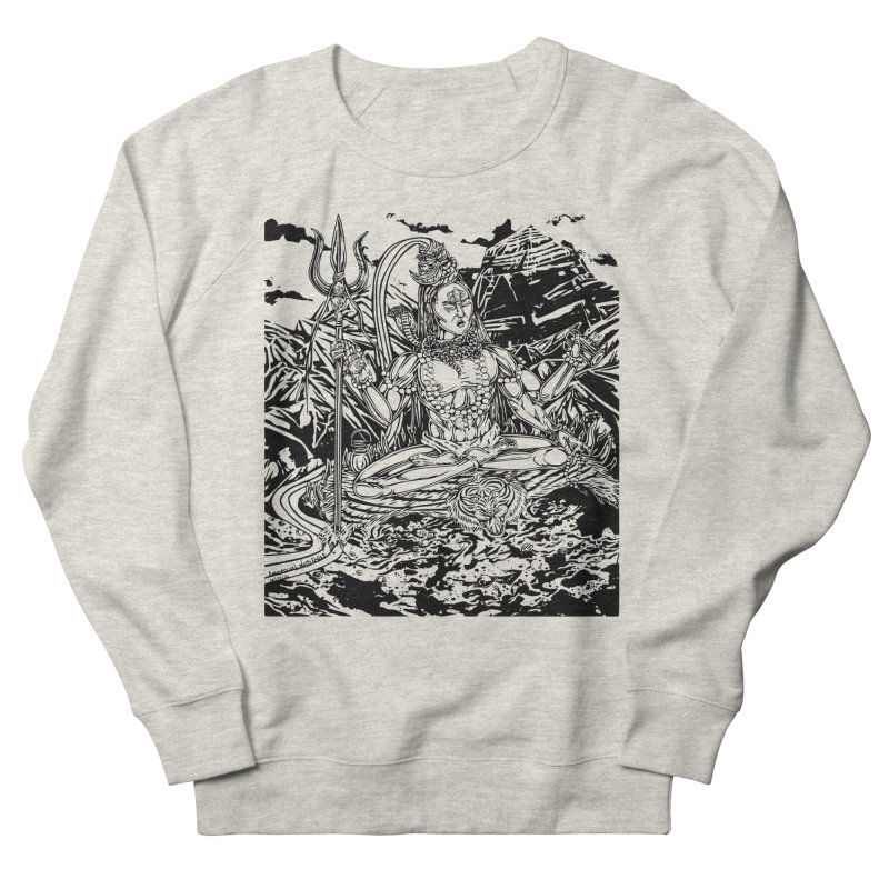 SHIVA THE CREATOR & DESTROYER Men's French Terry Sweatshirt by  SAMSKARA