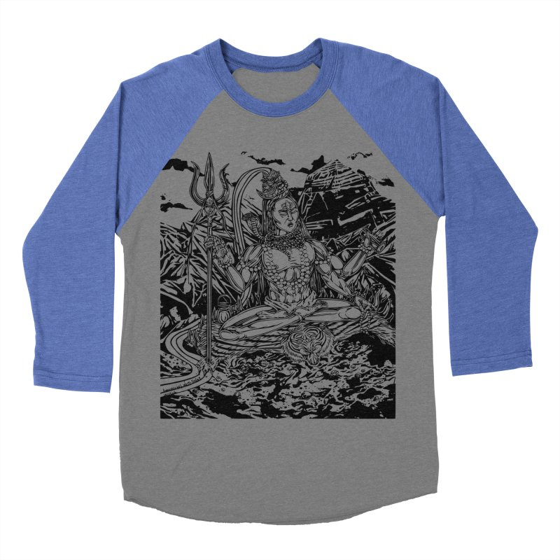 SHIVA THE CREATOR & DESTROYER Women's Baseball Triblend Longsleeve T-Shirt by  SAMSKARA