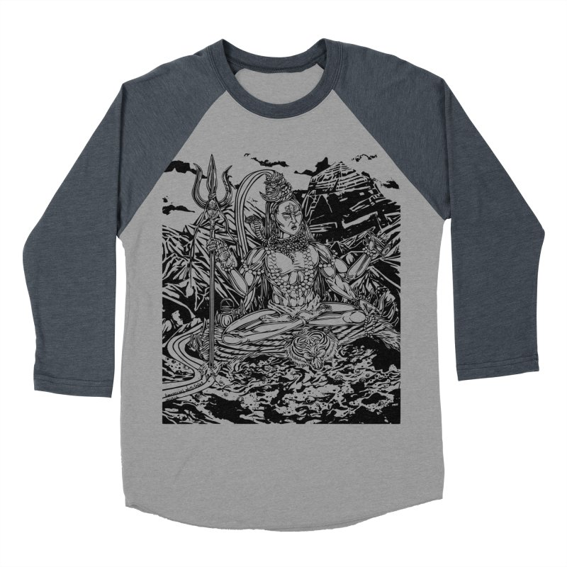 SHIVA THE CREATOR & DESTROYER Men's Baseball Triblend T-Shirt by  SAMSKARA