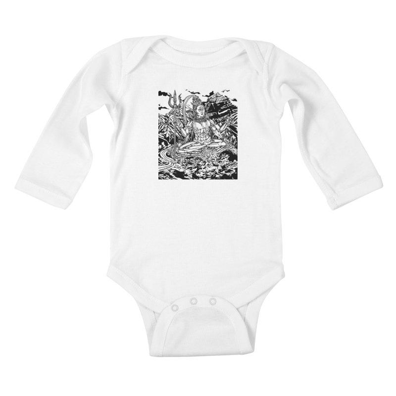 SHIVA THE CREATOR & DESTROYER Kids Baby Longsleeve Bodysuit by  SAMSKARA