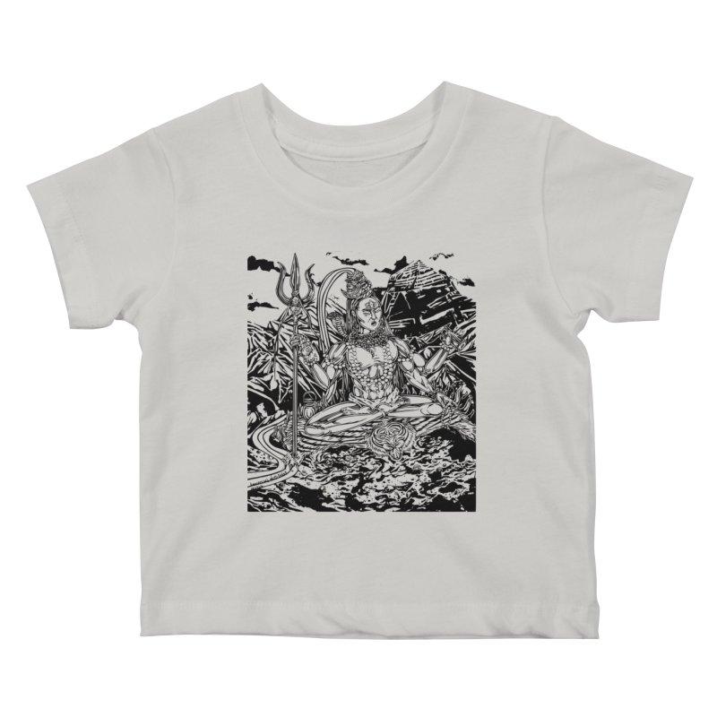 SHIVA THE CREATOR & DESTROYER Kids Baby T-Shirt by  SAMSKARA