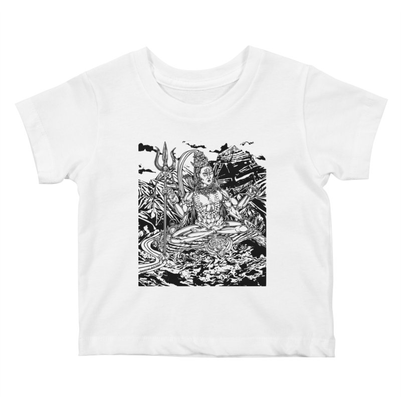 SHIVA THE CREATOR & DESTROYER Kids Baby T-Shirt by  SAMSKARA