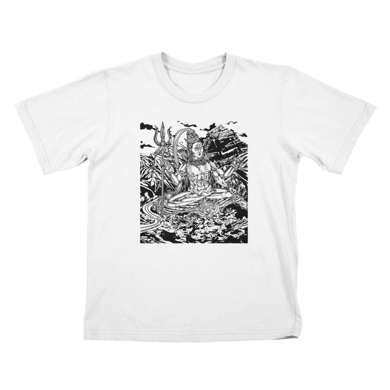 SHIVA THE CREATOR & DESTROYER Kids T-Shirt by  SAMSKARA