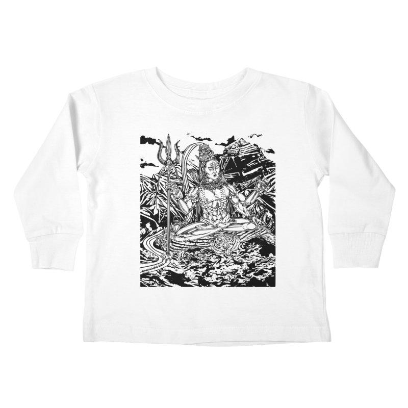 SHIVA THE CREATOR & DESTROYER Kids Toddler Longsleeve T-Shirt by  SAMSKARA
