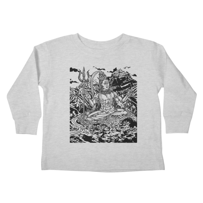SHIVA THE CREATOR & DESTROYER Kids Toddler Longsleeve T-Shirt by  SAMSKARA