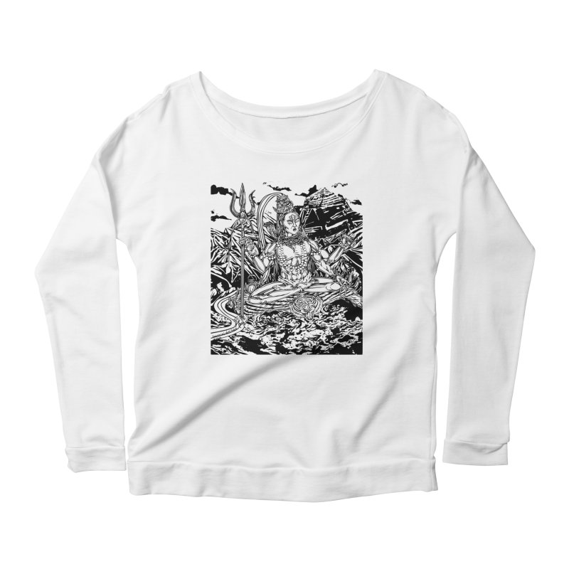 SHIVA THE CREATOR & DESTROYER Women's Scoop Neck Longsleeve T-Shirt by  SAMSKARA