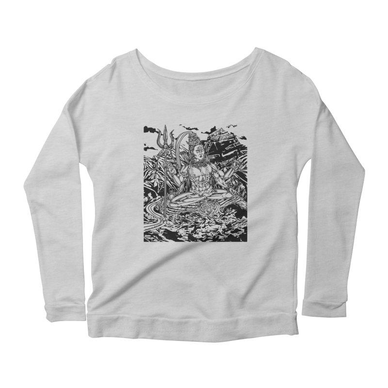 SHIVA THE CREATOR & DESTROYER Women's Scoop Neck Longsleeve T-Shirt by  SAMSKARA