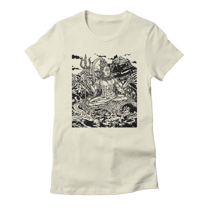SHIVA THE CREATOR & DESTROYER Women's Fitted T-Shirt by  SAMSKARA