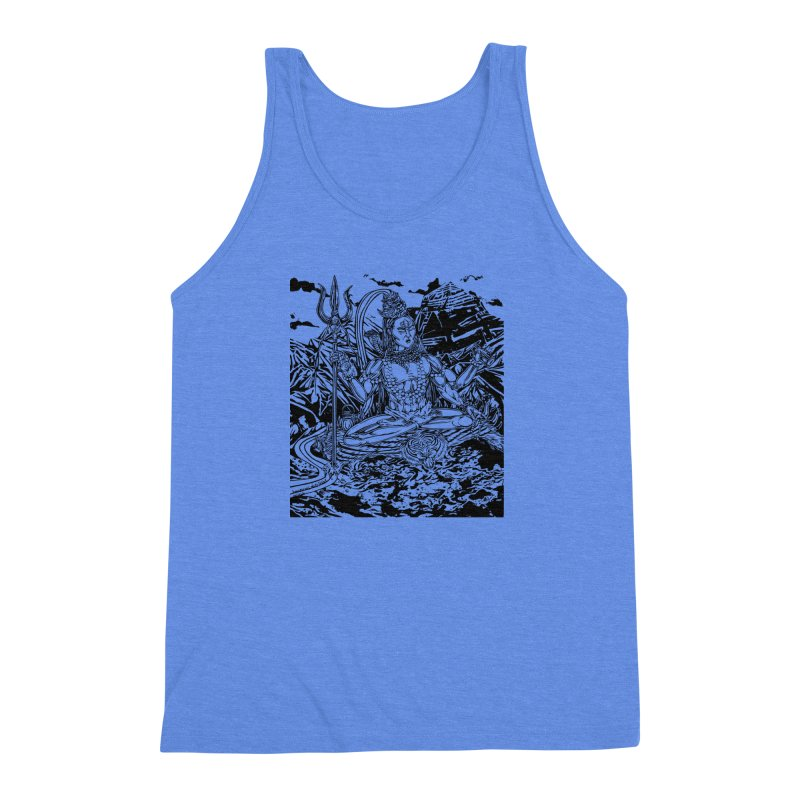 SHIVA THE CREATOR & DESTROYER Men's Triblend Tank by  SAMSKARA
