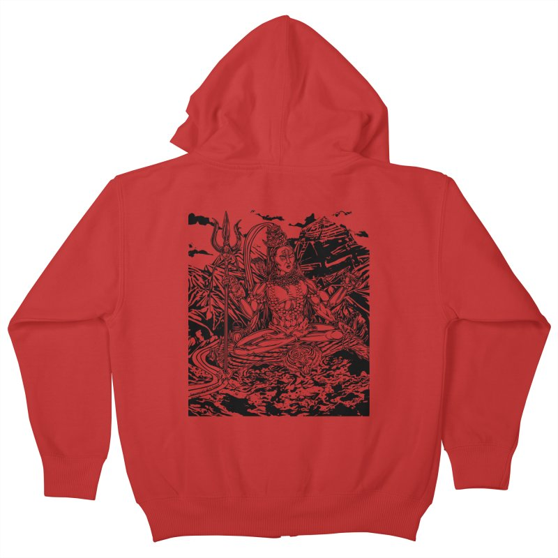 SHIVA THE CREATOR & DESTROYER Kids Zip-Up Hoody by  SAMSKARA