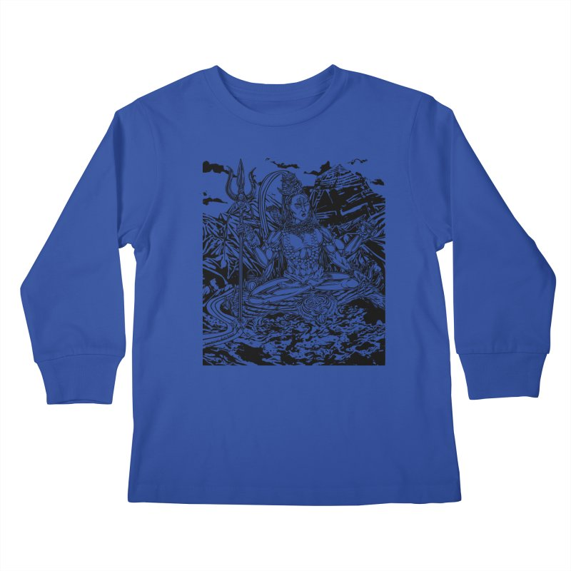 SHIVA THE CREATOR & DESTROYER Kids Longsleeve T-Shirt by  SAMSKARA