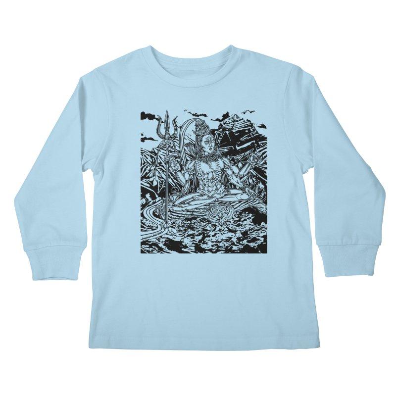 SHIVA THE CREATOR & DESTROYER Kids Longsleeve T-Shirt by  SAMSKARA