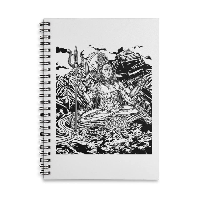 SHIVA THE CREATOR & DESTROYER Accessories Lined Spiral Notebook by  SAMSKARA