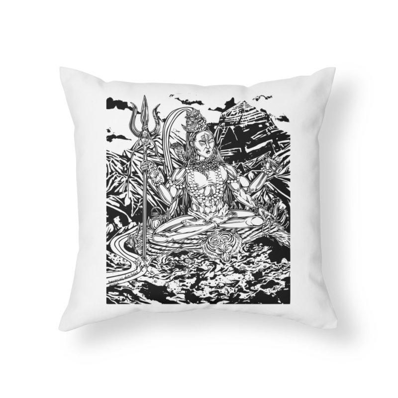SHIVA THE CREATOR & DESTROYER Home Throw Pillow by  SAMSKARA