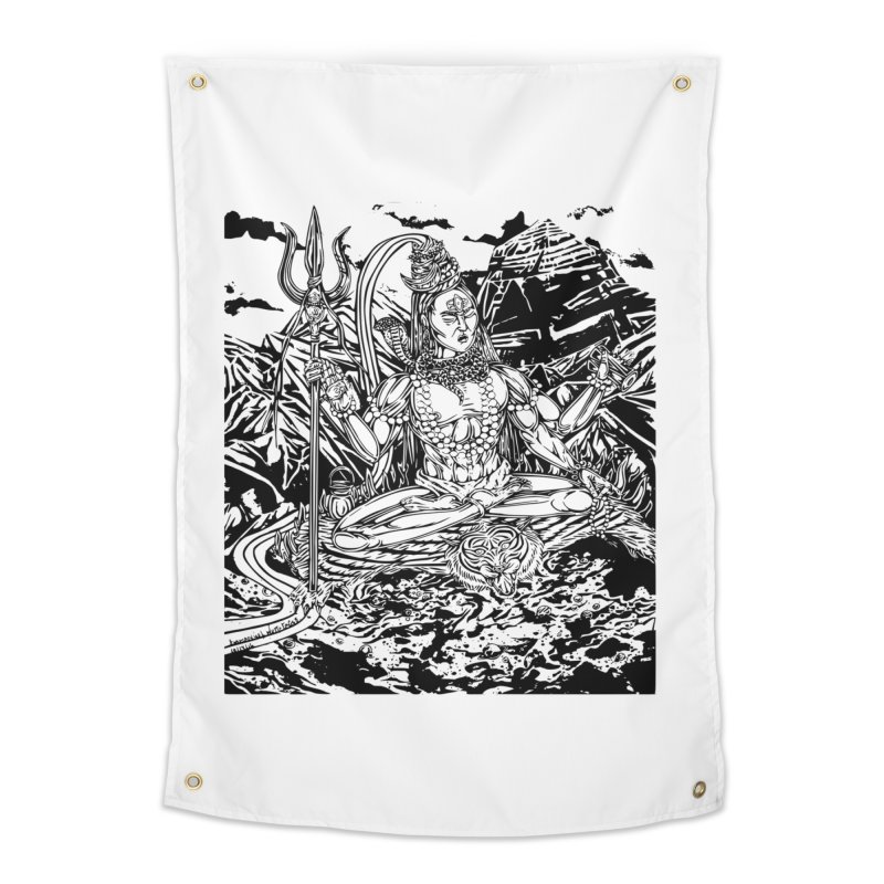 SHIVA THE CREATOR & DESTROYER Home Tapestry by  SAMSKARA
