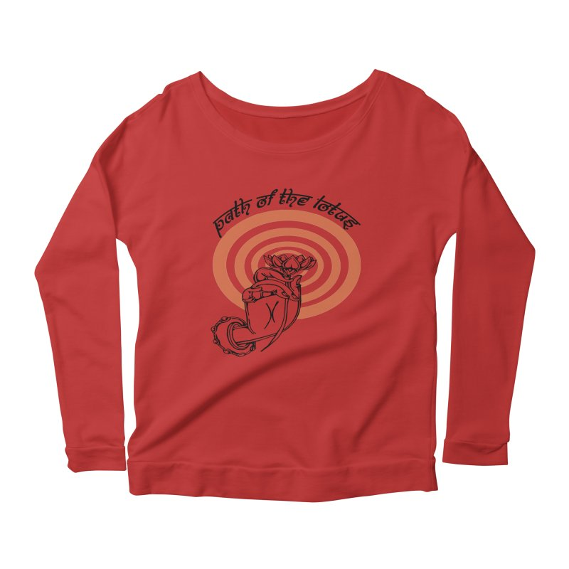 PATH OF THE LOTUS  Women's Longsleeve Scoopneck  by  SAMSKARA