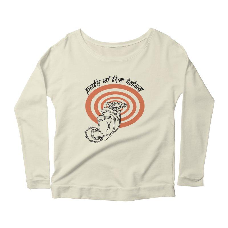 PATH OF THE LOTUS  Women's Scoop Neck Longsleeve T-Shirt by  SAMSKARA