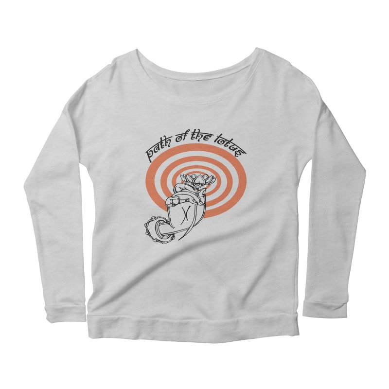 PATH OF THE LOTUS  Women's Scoop Neck Longsleeve T-Shirt by  SAMSKARA