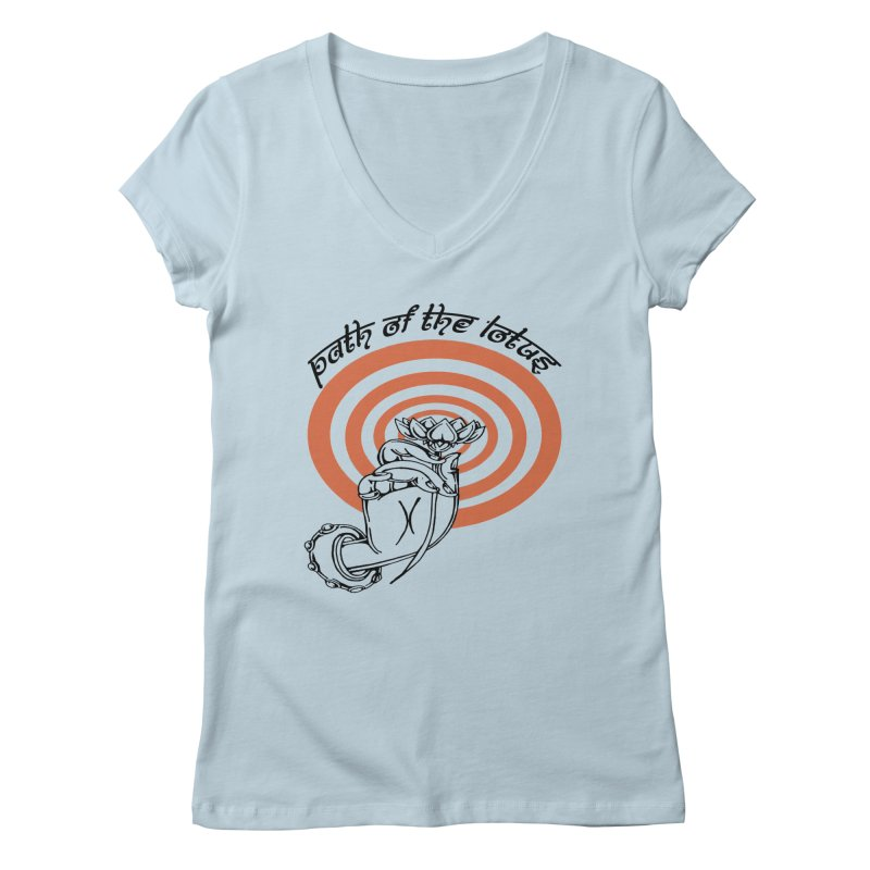 PATH OF THE LOTUS  Women's V-Neck by  SAMSKARA