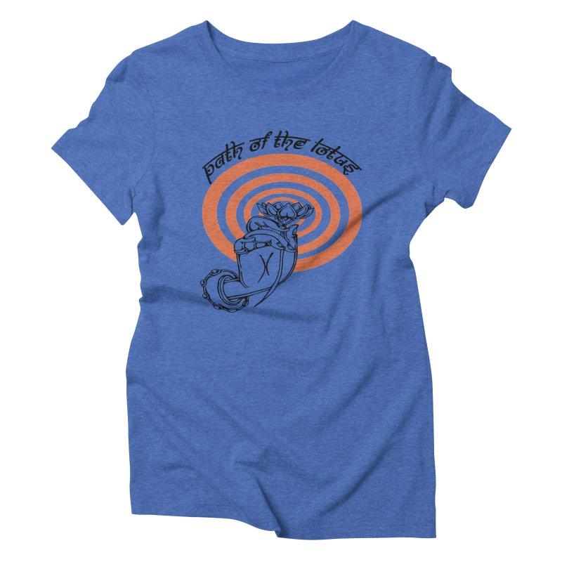 PATH OF THE LOTUS  Women's Triblend T-Shirt by  SAMSKARA