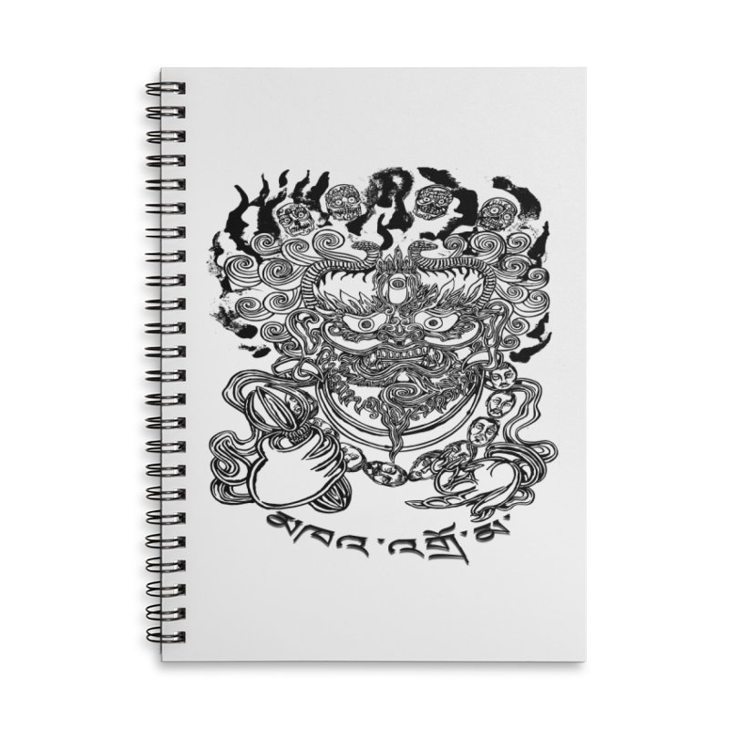 Dakini  Accessories Lined Spiral Notebook by  SAMSKARA