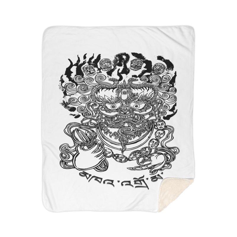 Dakini  Home Sherpa Blanket Blanket by  SAMSKARA