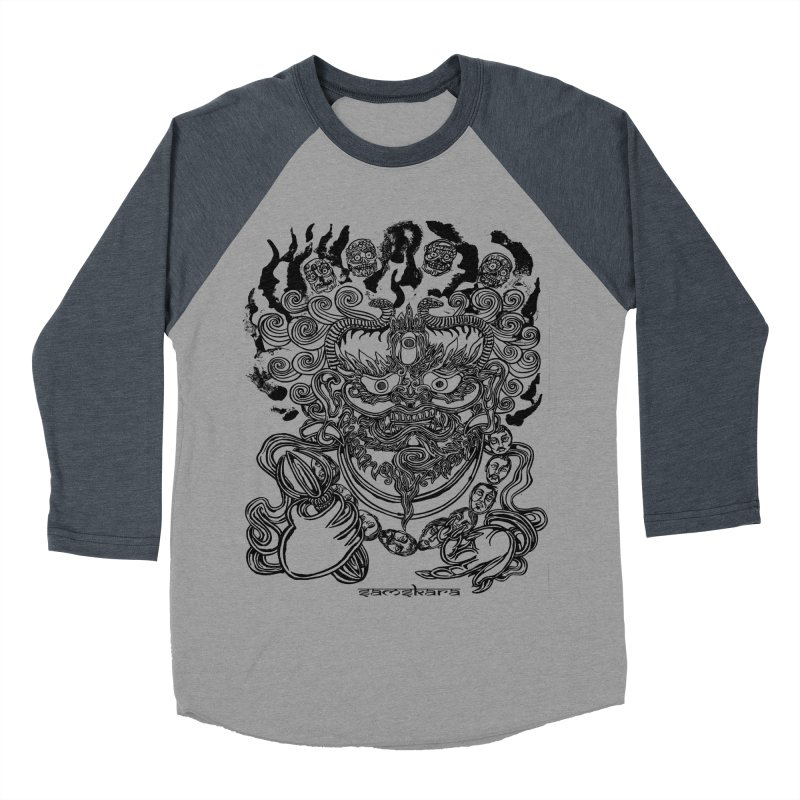 Dakini S Men's Baseball Triblend Longsleeve T-Shirt by  SAMSKARA