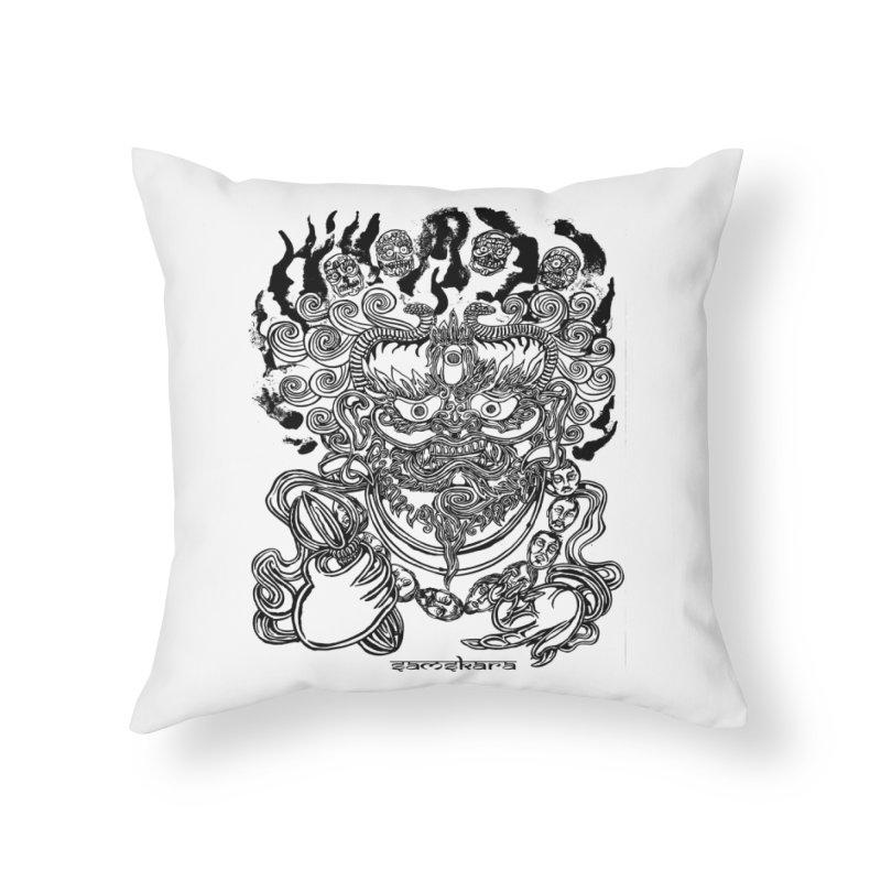 Dakini S Home Throw Pillow by  SAMSKARA