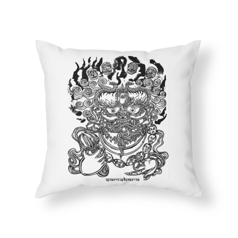 Dakini S Home Throw Pillow by  SAMSKARA