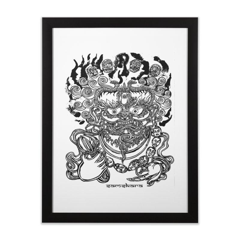Dakini S Home Framed Fine Art Print by  SAMSKARA